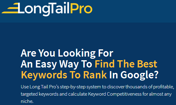 Keyword Research Software With Long Tail Pro