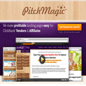 Pitchmagic- Landing Pages Made Easy For CB Vendors & Affiliates